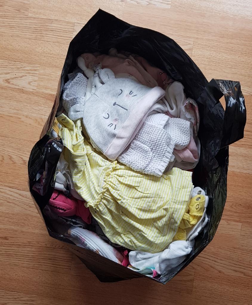 Large bundle new born to 3 months clothes