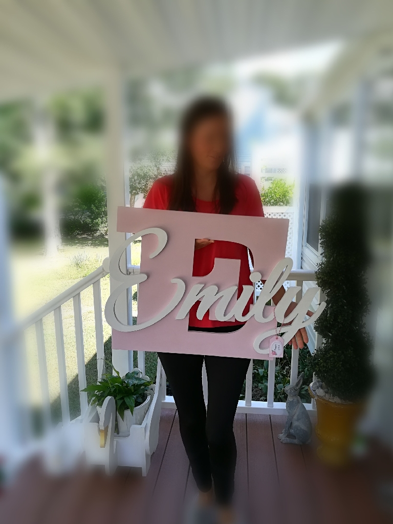 Customized Handmade Name Sign