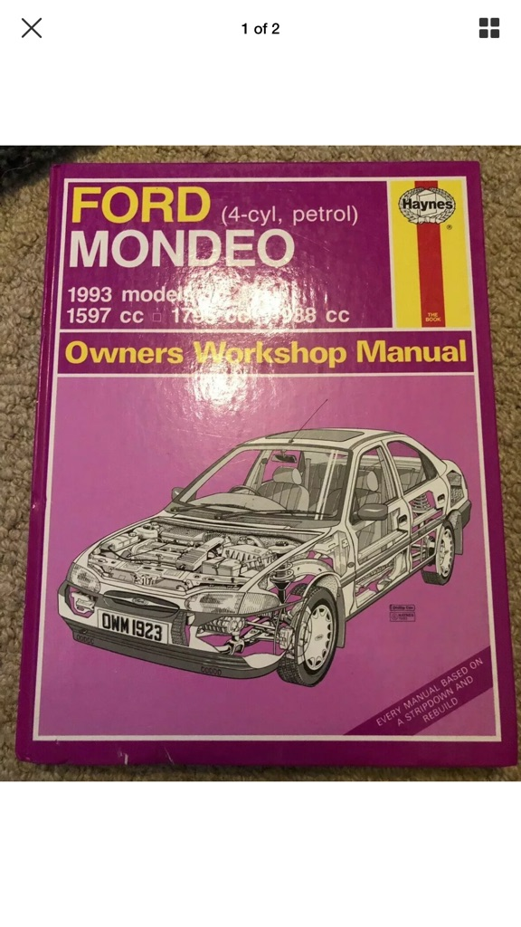HAYNES OWNERS WORKSHOP MANUAL FOR A FORD MONDEO