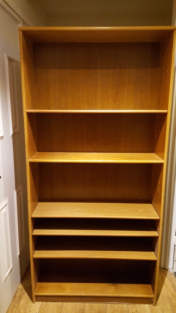 Large wooden bookcase/shelving