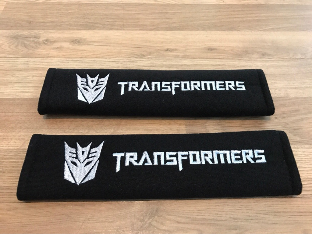 2X Car Seat Belt Pads Gift Transformers Autobots Audi VW BMW Ford Kia Games