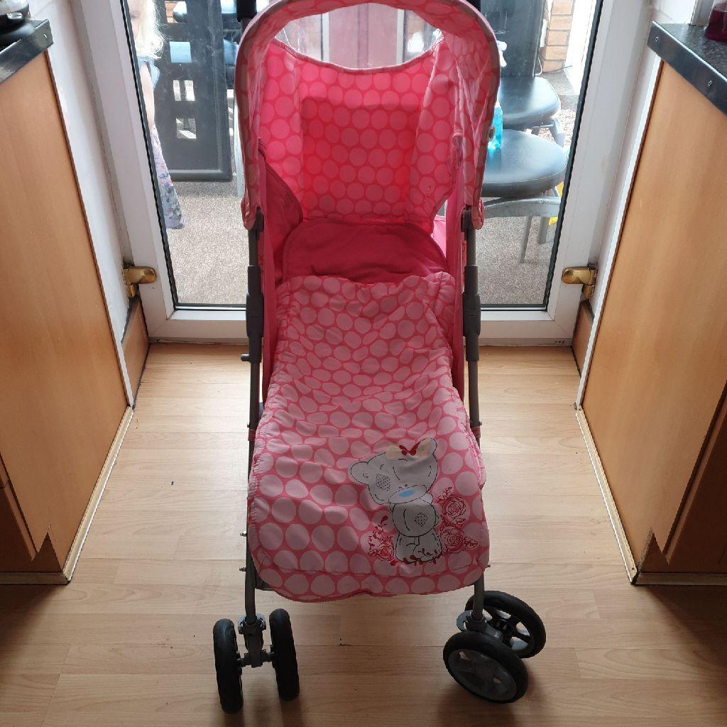 Tatty Teddy Pink Stroller