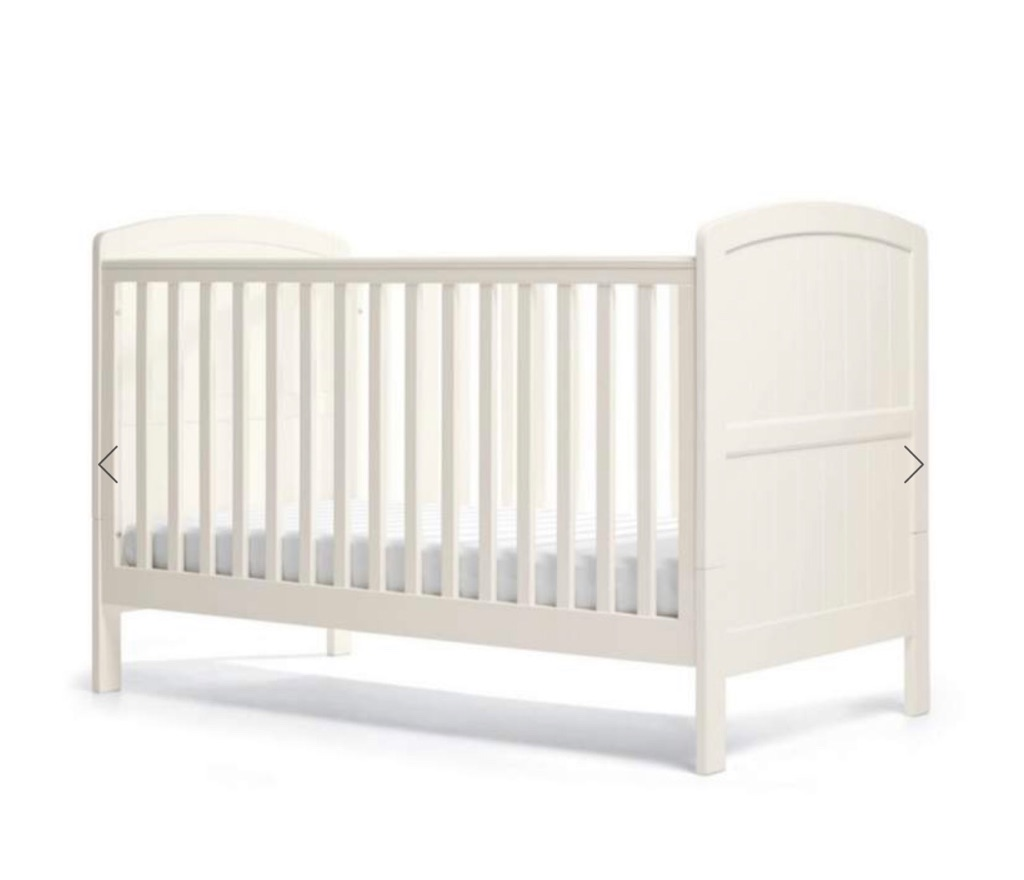 Mamas and papas hayworth cot bed and wardrobe includes mattress all brand new in boxes and plastic