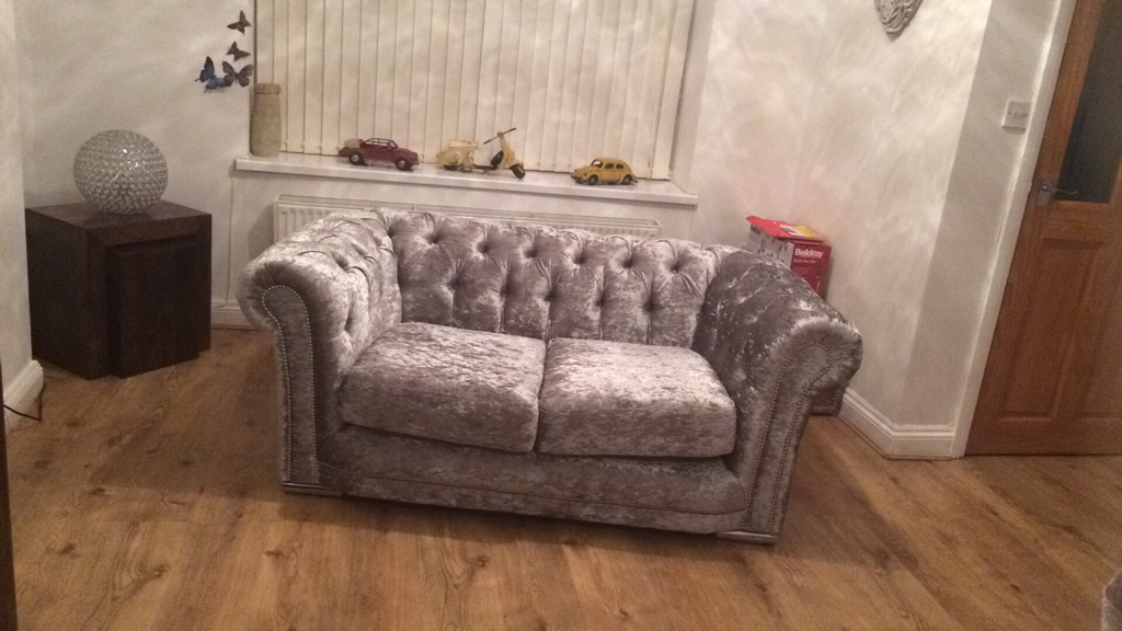 3 & 2 chesterfield sofas