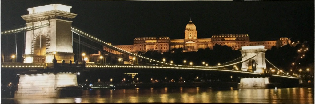 Budapest by night - canvas picture