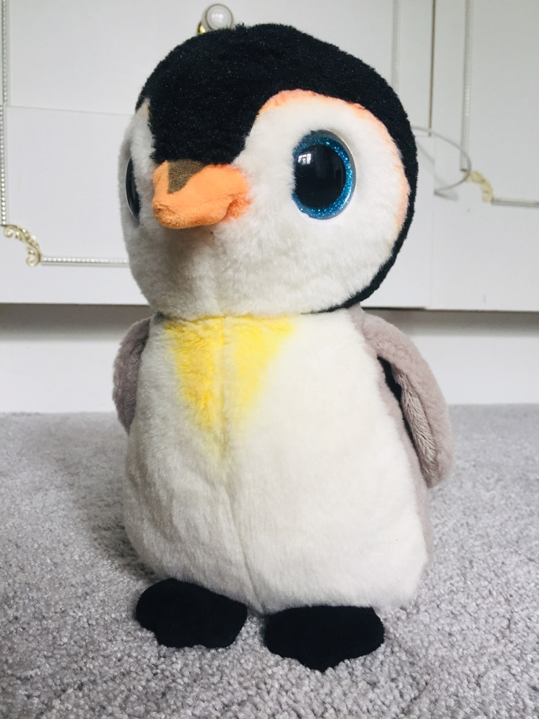 Children's stuffed penguin toy