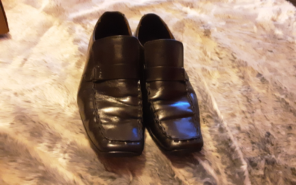 JONES THE BOOTMAKERS LOAFER SHOES SIZE 9 BLACK LEATHER