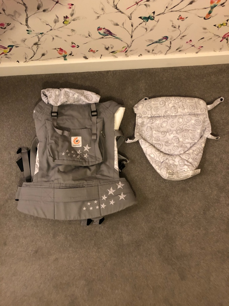 Ergo baby carrier - with teething straps and weather protector