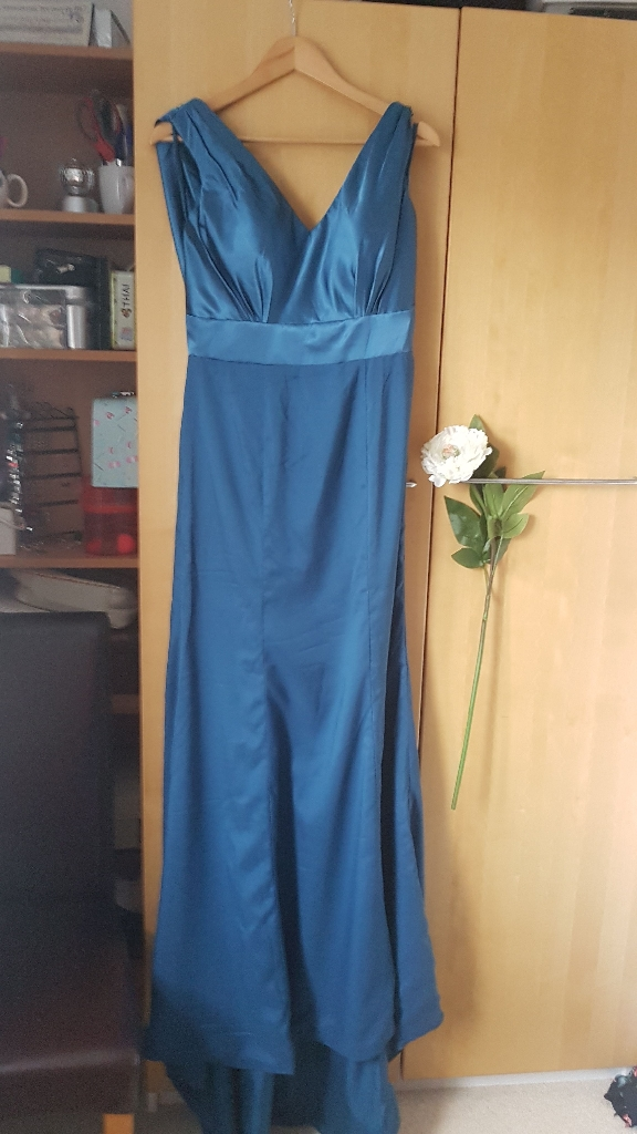 Prom Dress Blue/Green Size 16