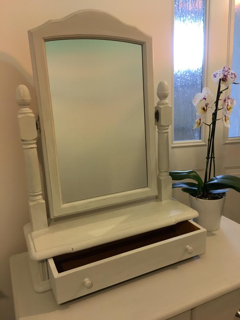 Repainted dressing table mirror in Winters Grey chalk paint