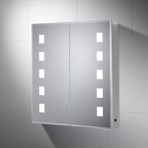 Brand new Pebble Grey Elana Led illuminated bathroom mirror cabinet