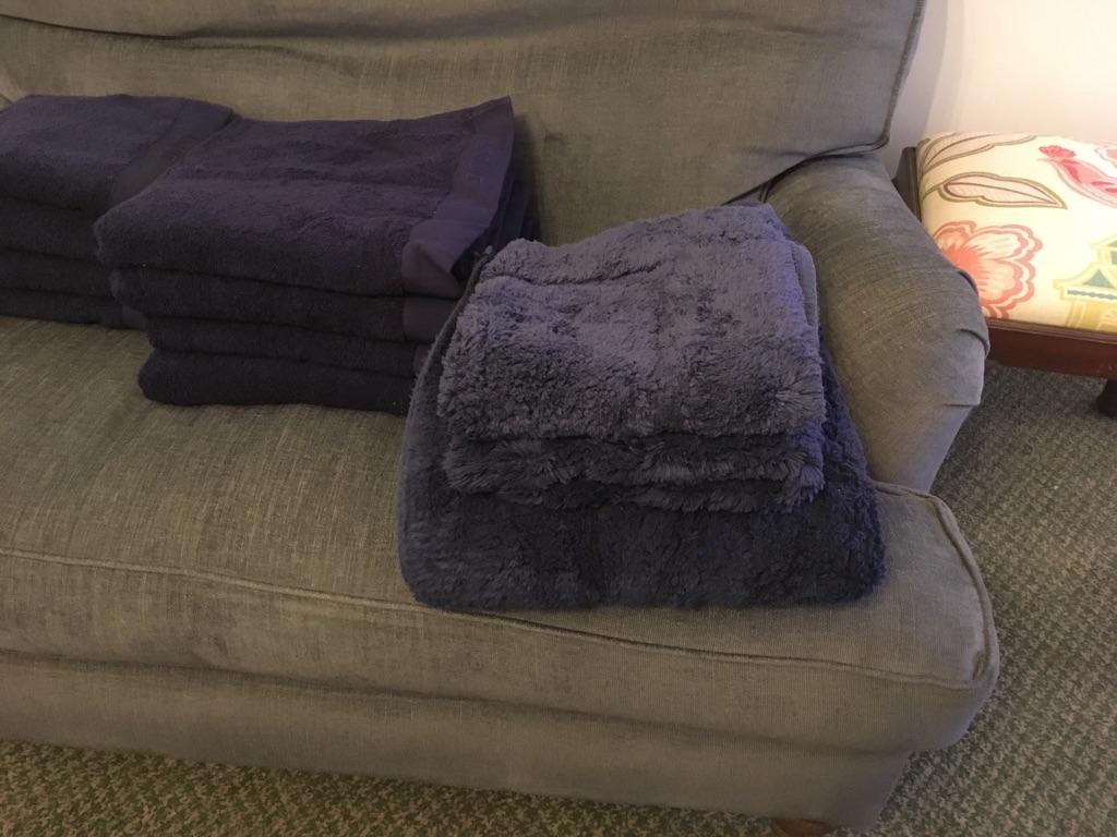 Navy Blue Cotton - Bathroom Towel & Bathroom Set