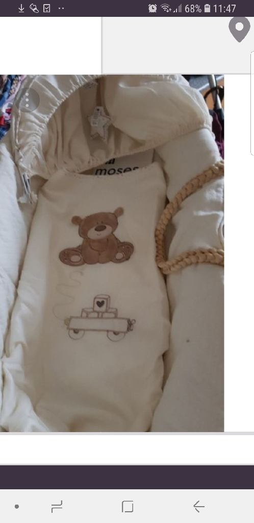 Mothercare Brown Bear Moses Basket