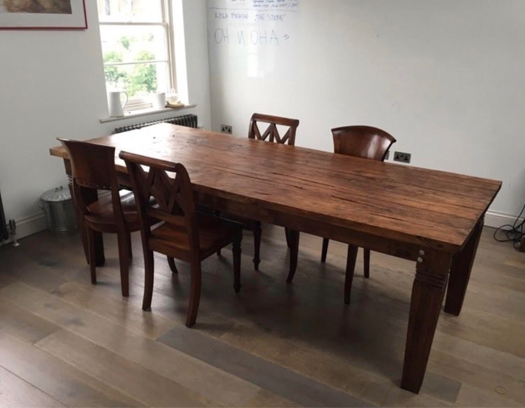 Very large oak dining table from Bali