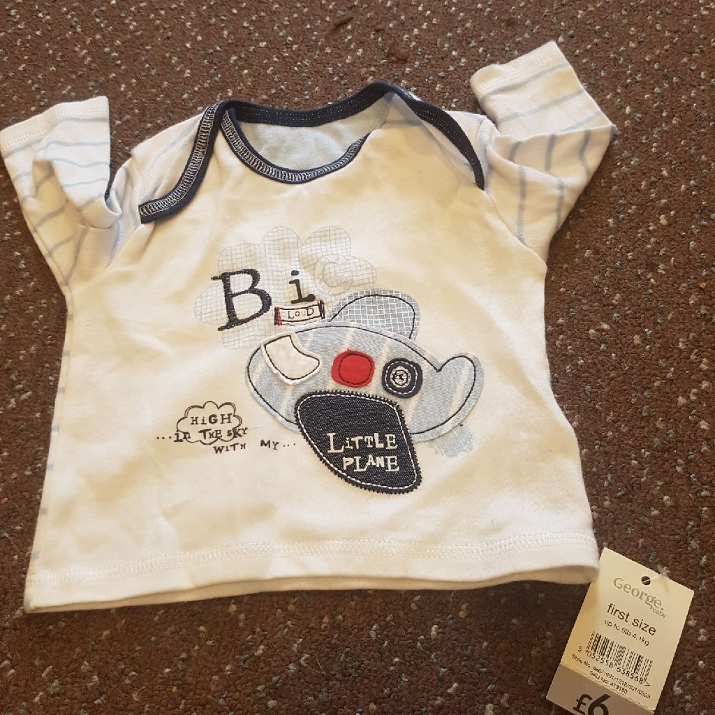 Baby first size longsleeved top NEW with labels