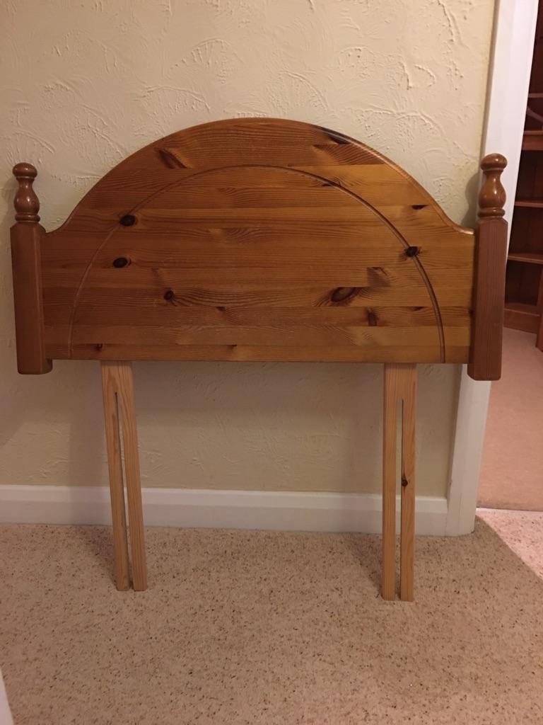 Solid single pine headboard