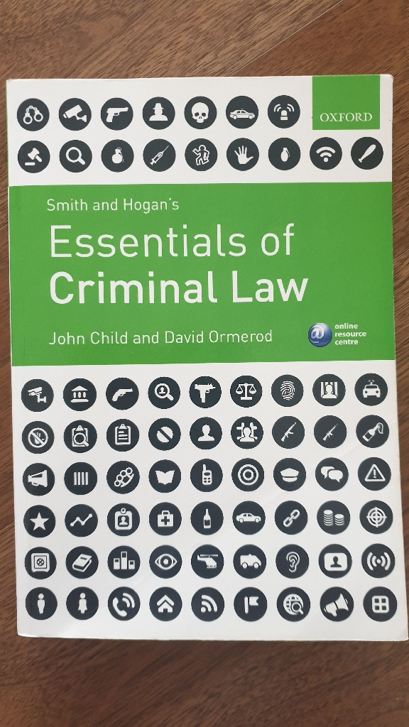 Criminal law textbook by Child J.