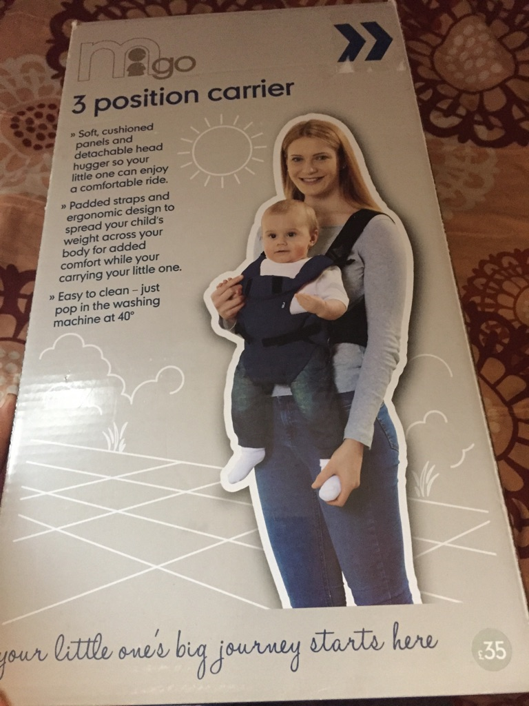 3 position baby carrier