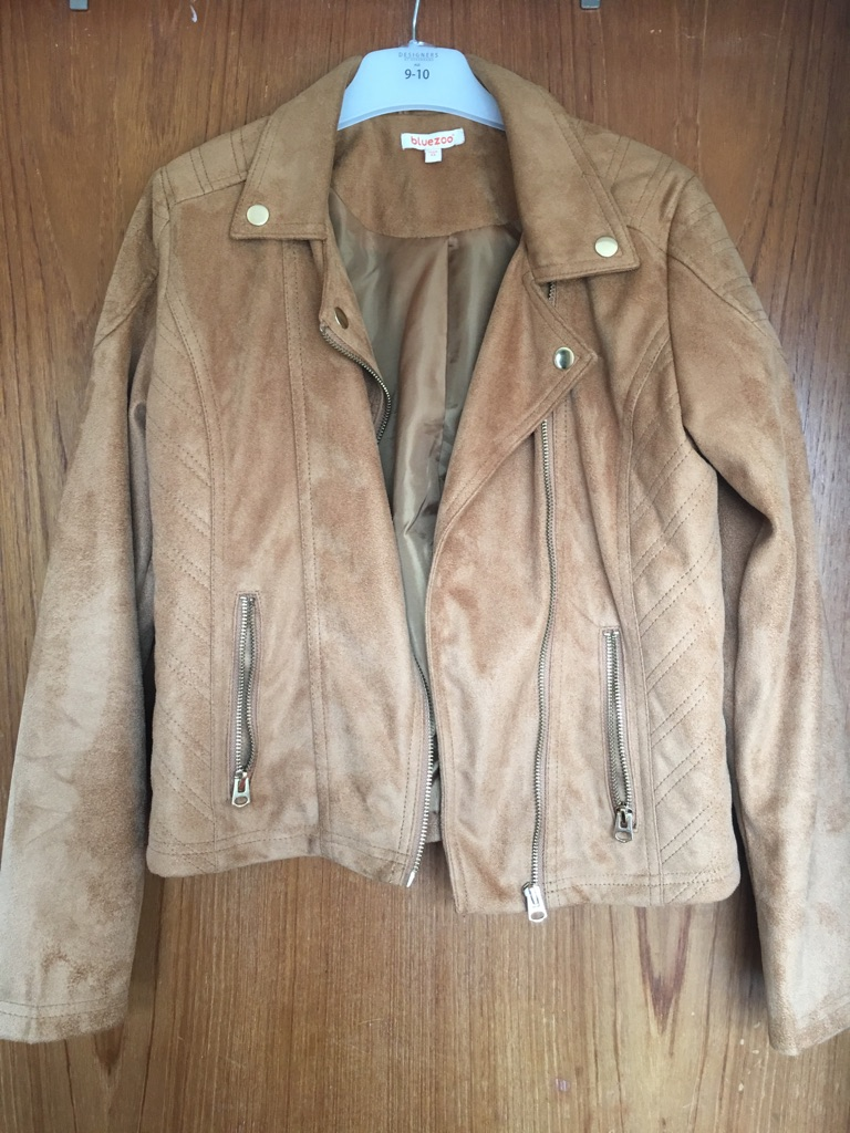 Girl's brown mock suede jacket