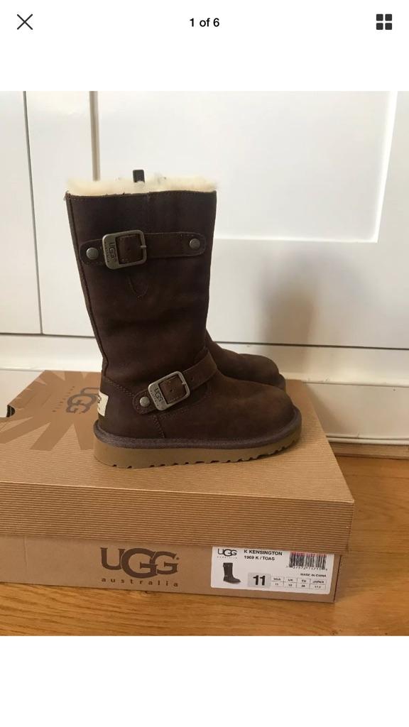 UGG Kensington Kids Light  Brown Boots. UK 10