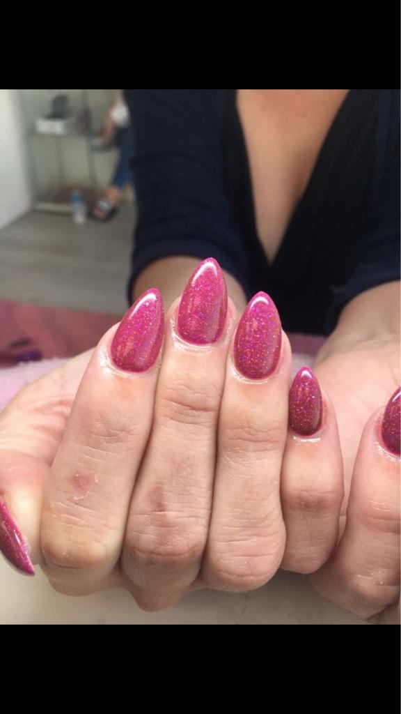 Sculpted acrylic nails ROMILEY