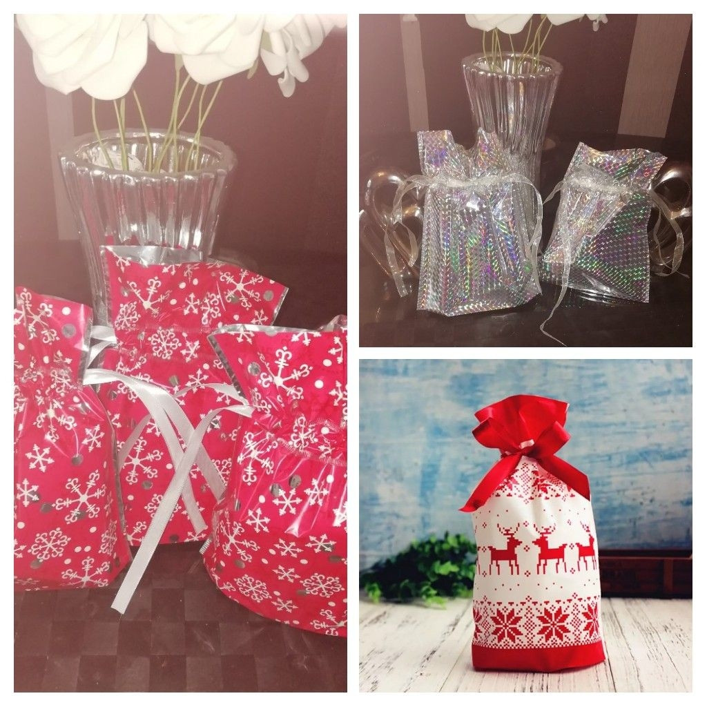 Xmas gift bags filled with makeup