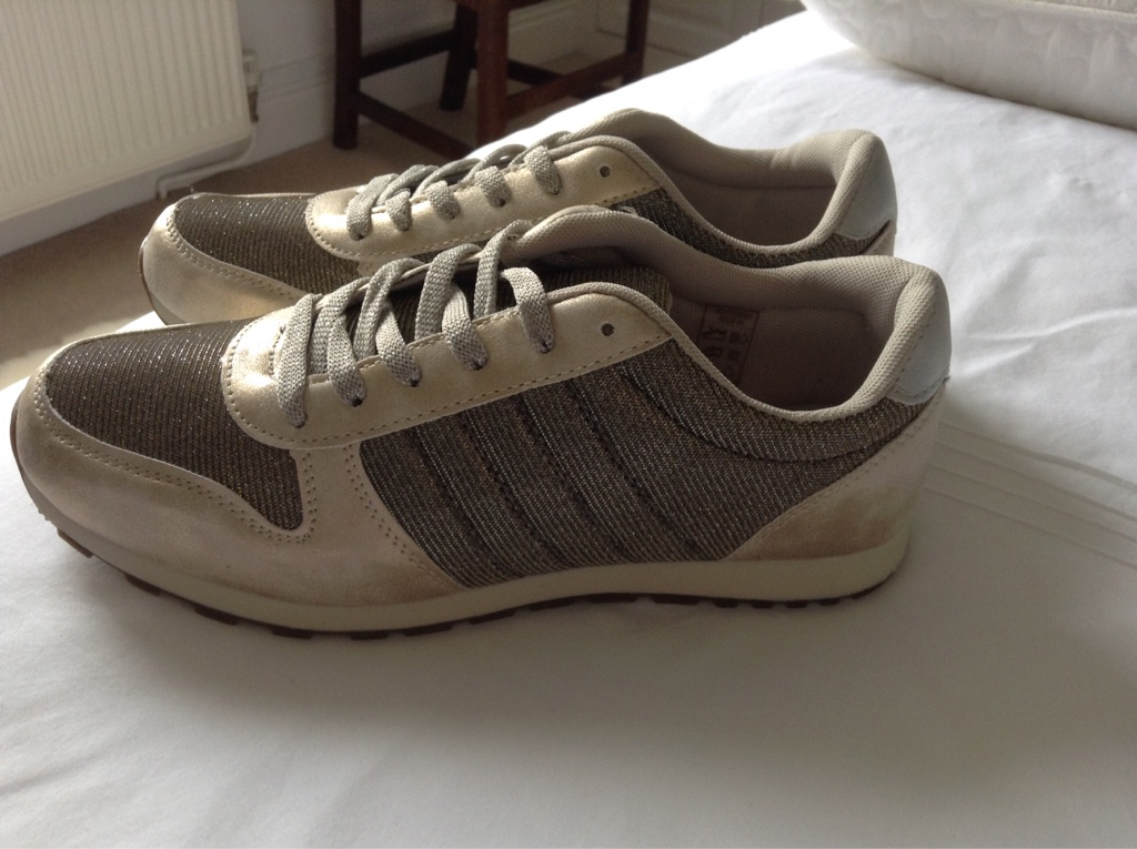 Gold trainers for sale - brand new