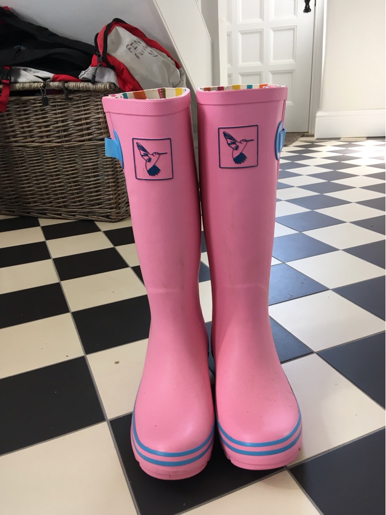 Brand new 'Evercreature' pink wellies - never worn