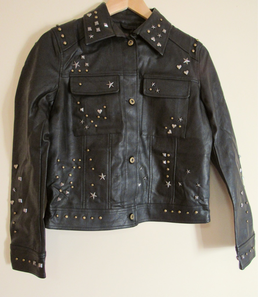 Studded Black Western Jacket Size 10.