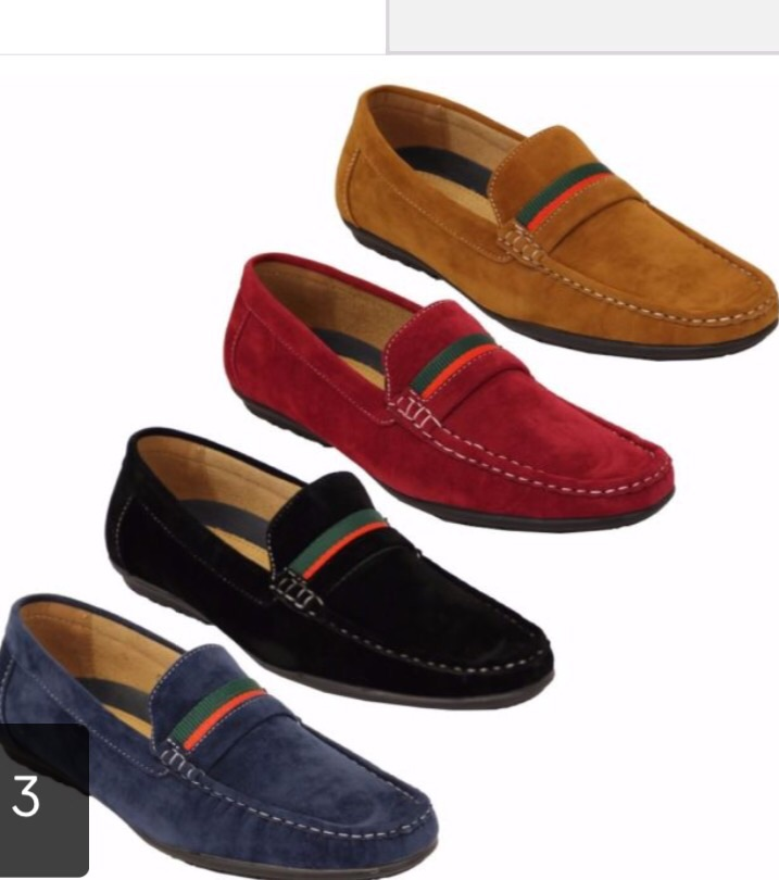 Men's moccasins suede shoes Italian new