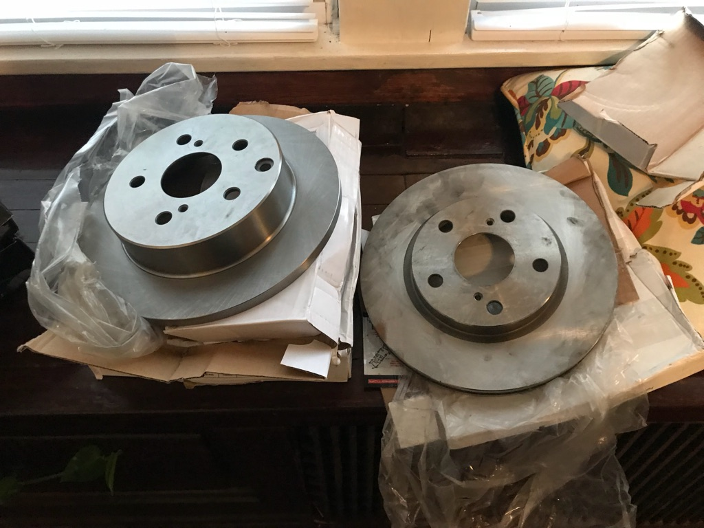 Full set rotors and brake pads NEW!!