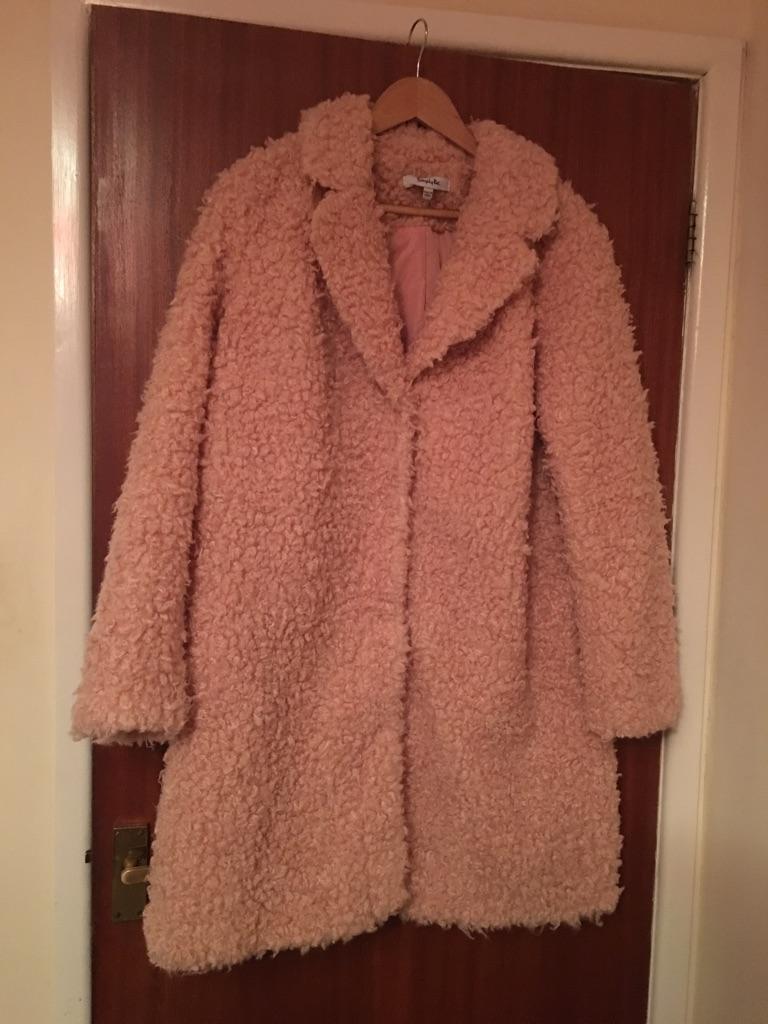 Size 18 - Pink Teddy Fur Coat