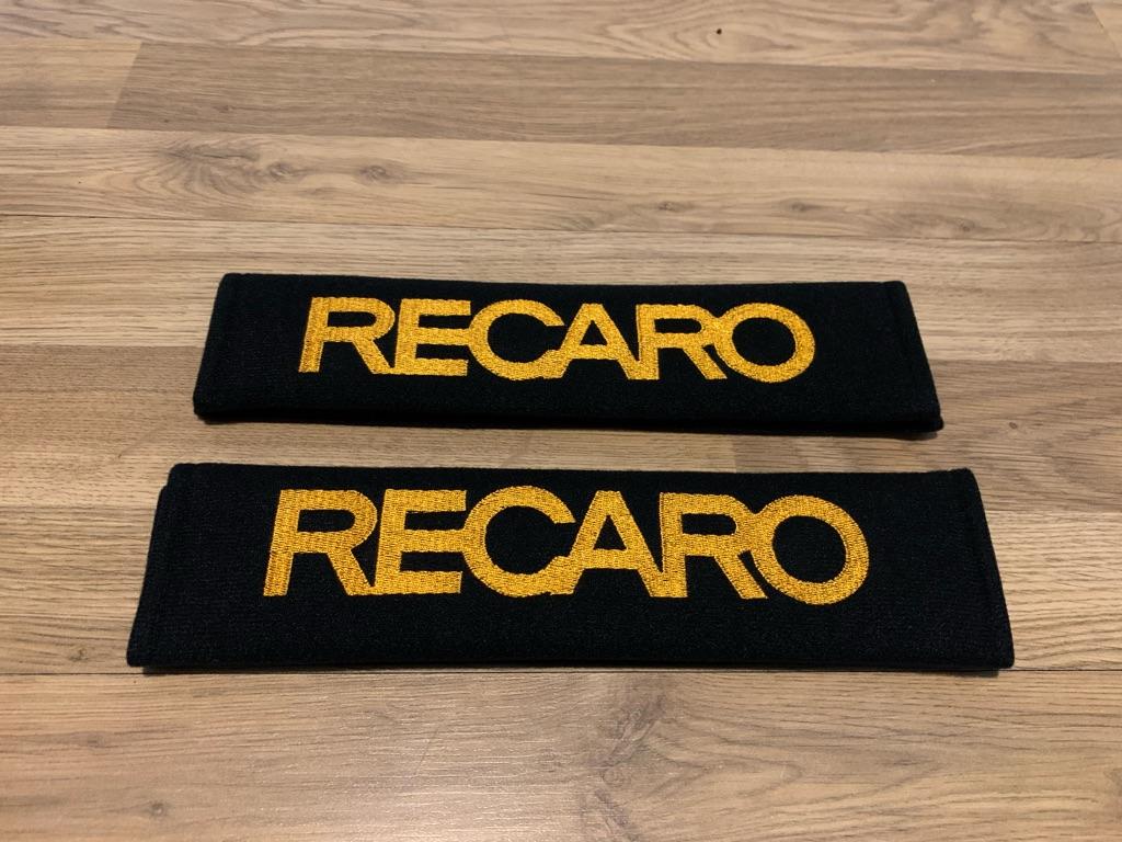 2X Seat Belt Pads Cotton Gift Recaro Orange Sport Seats Comfort Renault Vauxhall
