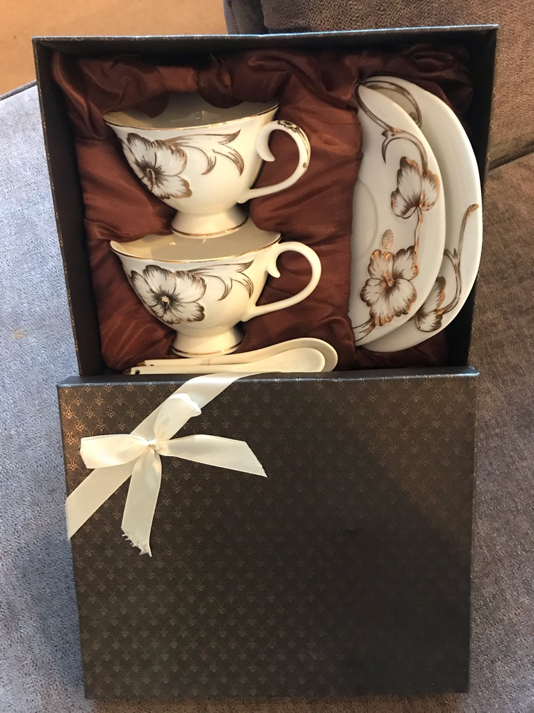 Tea cup, saucer and tea spoon set