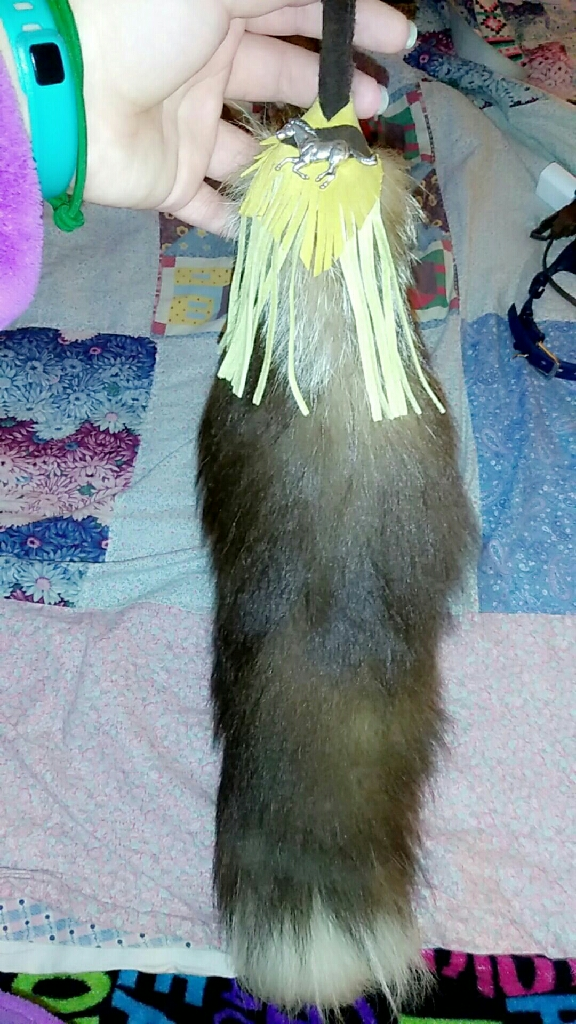 Real fox tail