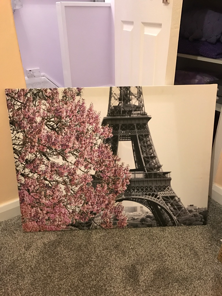Large Canvas - Pink & Grey