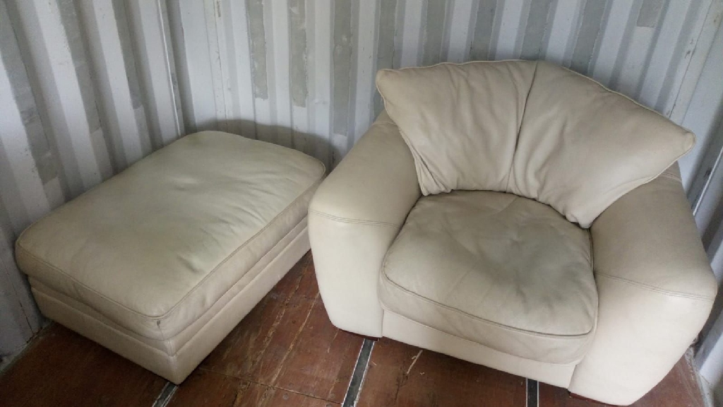 Corner sofa, armchair and foot stall