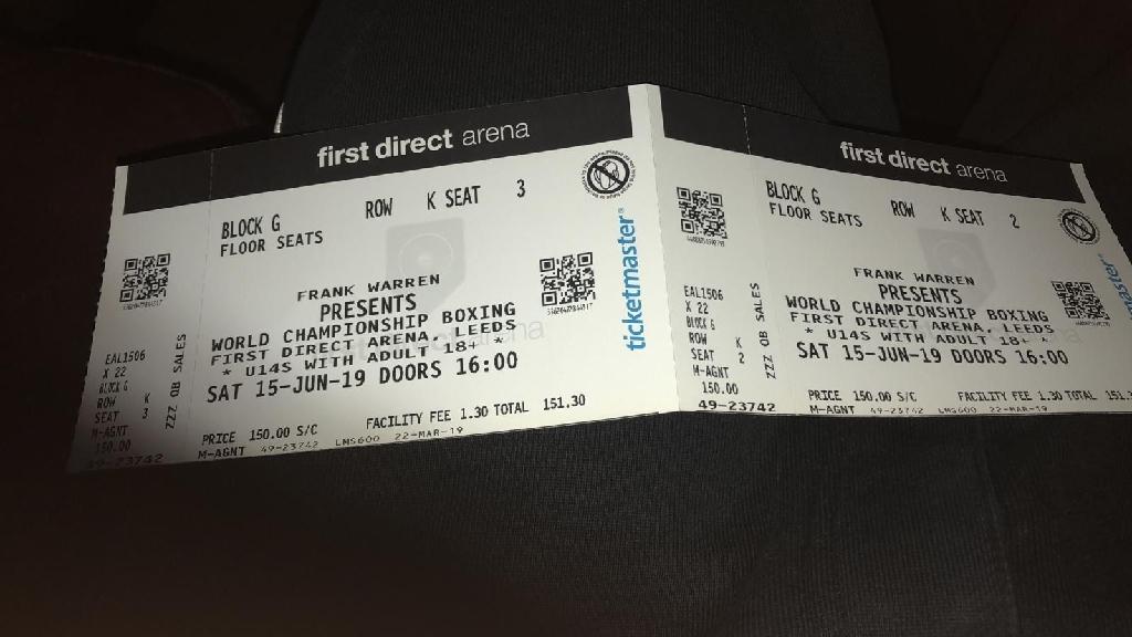 Warrington Vs Galahad X2 tickets