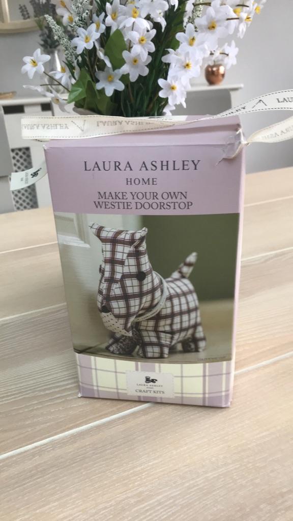 Laura Ashley make your own westie doorstop