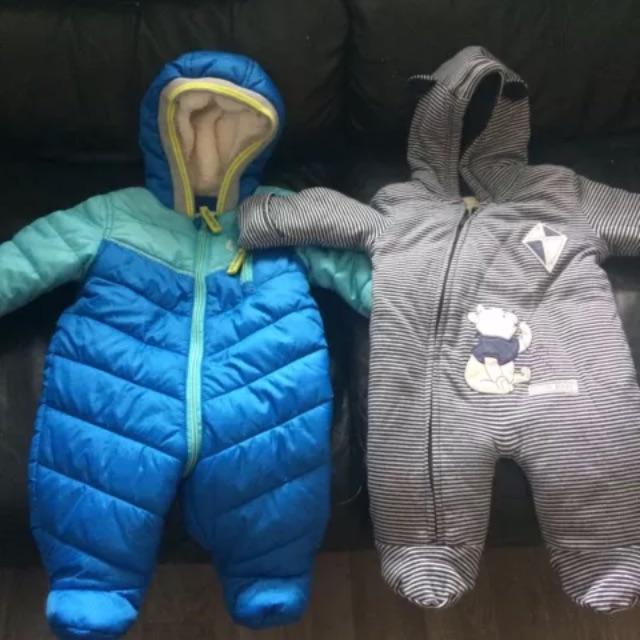 Baby boys snowsuits