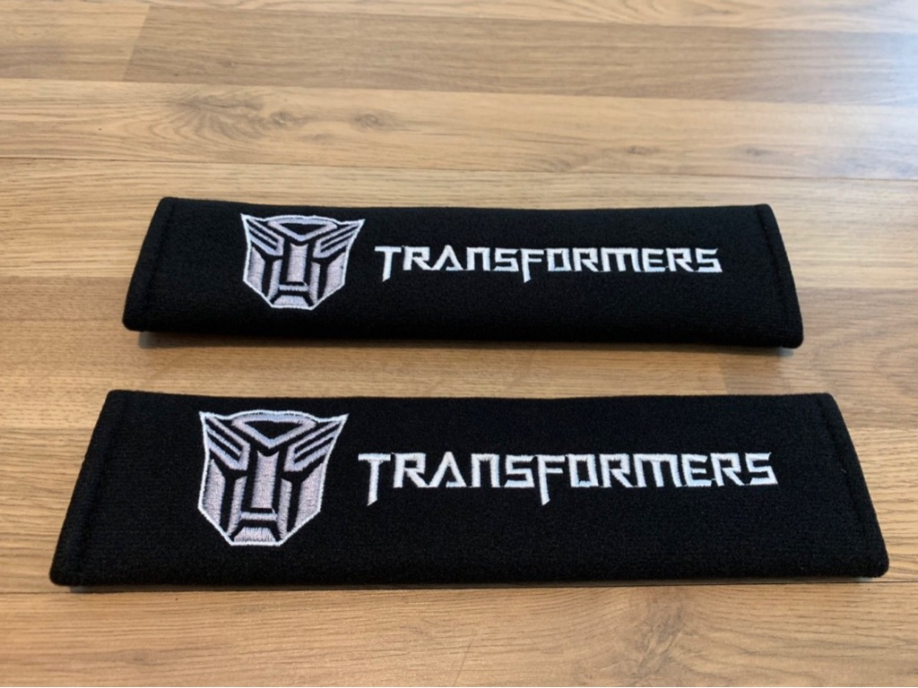 2X Seat Belt Pads Gifts Transformers SF Revenge Robots Toy Kids Movie Film