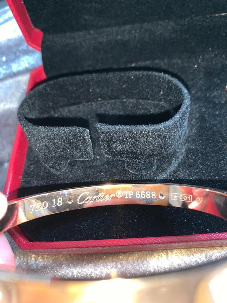 Cartier rose gold medium bangle used