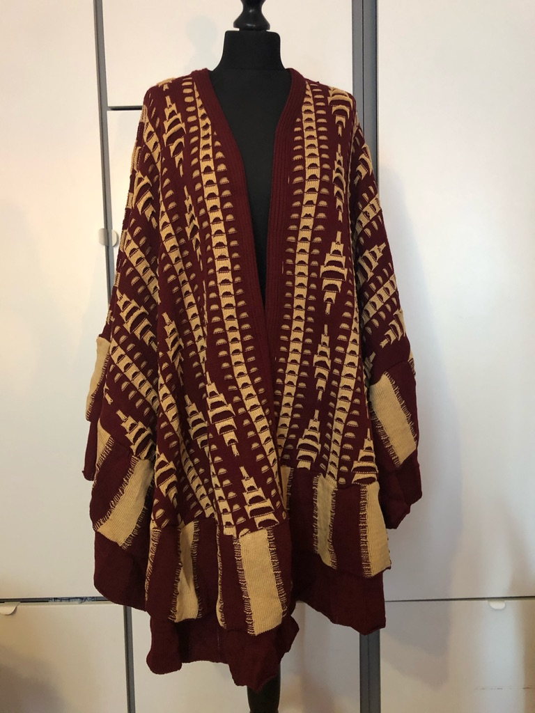 New Brown Knitted Wrap Cardigan Scarf
