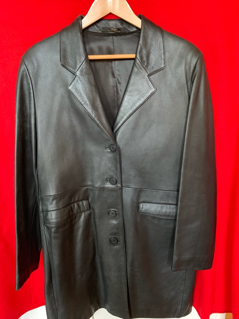 M&S genuine leather coat - size 16