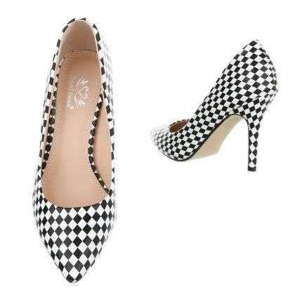 Checkered High Heel Shoe