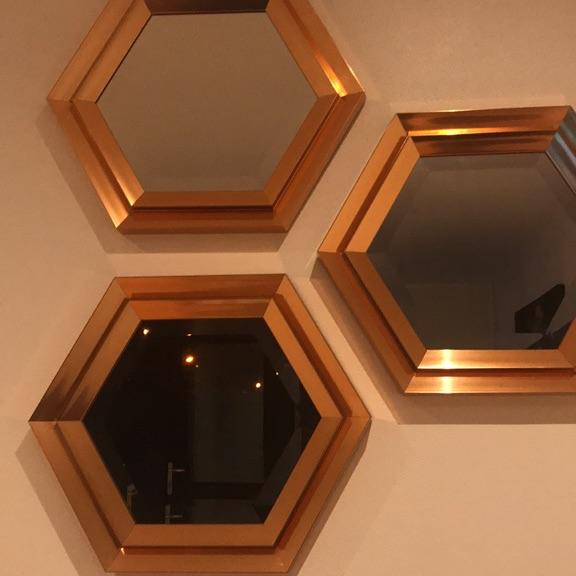 Rose Gold decorative mirrors