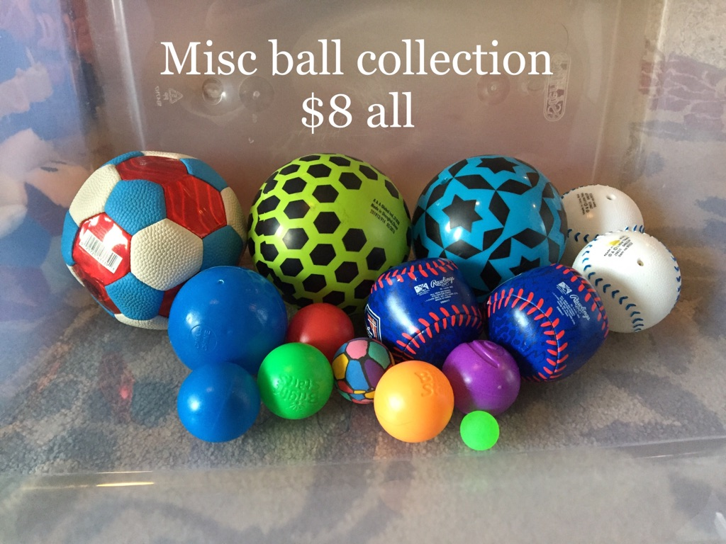 Misc toy balls