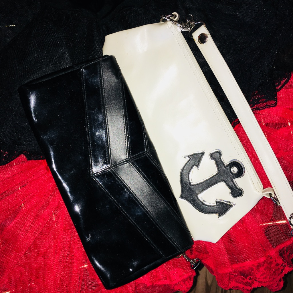 Small sailor purse and black purse. Both together