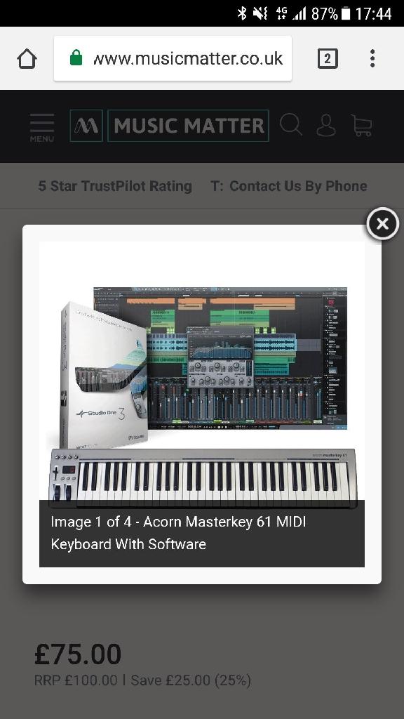 Masterkey 61 with studio 1