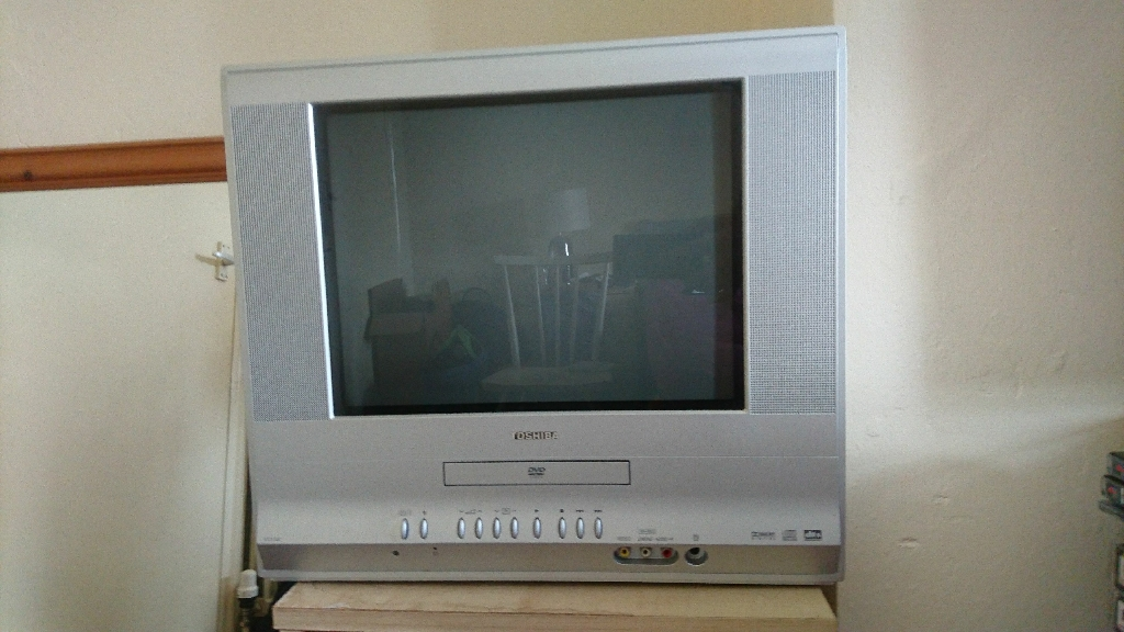 Toshiba VTD1552 flat CRT TV/DVD combi